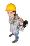 Female manual worker Royalty Free Stock Images