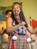 Female Maori Performer Stock Photo