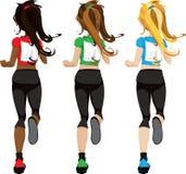Female Marathon Jogger Stock Photography