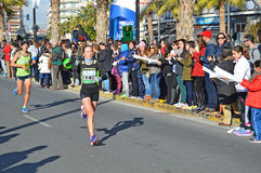 Female Marathon Runner Stock Photo