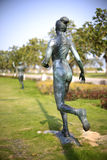 Female marathon runner statue Stock Images
