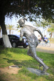 The female marathon runner statue Stock Photo