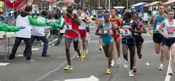 Female marathon winner Aberu Kebede Royalty Free Stock Photo