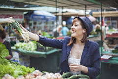 Female At Market Place Royalty Free Stock Image