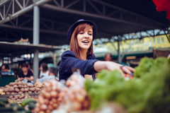 Female At Market Place Stock Images