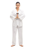 Female martial artist bowing Royalty Free Stock Photos