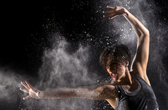 Female Martial Artist with Powder Royalty Free Stock Photo