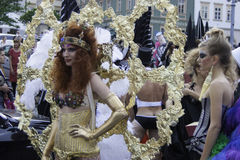 Female Mask at carnival in Brno Stock Image