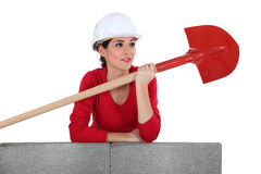 Female mason Royalty Free Stock Photo