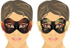 Female masquerade masks Stock Photography