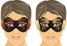 Female masquerade masks stock photography