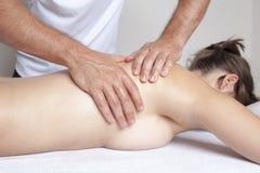Female massage Royalty Free Stock Photography