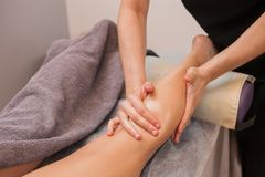 Anticellulite Massage Young Woman Close Up stock photography