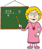 Female mathematics teacher. A teacher is teaching math. Available in well layered vector eps 8 file Stock Photography