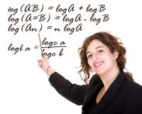 Female maths teacher Stock Images