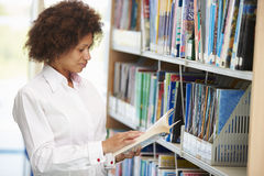 Female Mature Student Studying In Library Royalty Free Stock Image