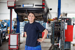 Female Mechanic Portrait Stock Photo