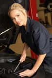 Female mechanic at work Stock Photography