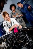 Female mechanic working Royalty Free Stock Image