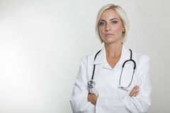 Female medic with stethoscope Royalty Free Stock Photography