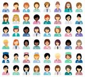 Female medical avatars Stock Photos