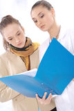 Female medical doctor and her patient Stock Images