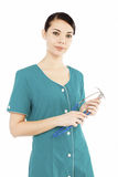 Female medical doctor with stethoscope Royalty Free Stock Photos