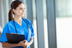 Female medical intern Royalty Free Stock Image