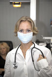 Female medical professional. Portrait of beautiful female doctor royalty free stock photography