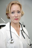 Female medical professional. Portrait of beautiful female doctor royalty free stock photos