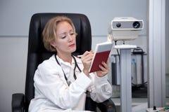 Female medical professional. Portrait of beautiful female doctor stock image