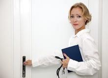 Female medical professional. Doctor or nurse stock image