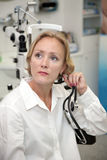 Female medical professional. Doctor or nurse royalty free stock photo