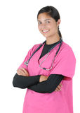 Female medical professional with arms crossed Royalty Free Stock Photo