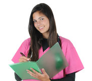 Female medical professional with chart Stock Photography