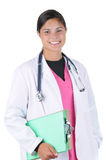 Female medical professional with chart Royalty Free Stock Photos