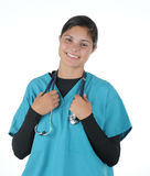Female medical professional stethoscope Royalty Free Stock Photos