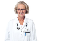 Female medical professional with stethoscope Stock Image