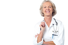 Female medical professional with stethoscope Royalty Free Stock Image