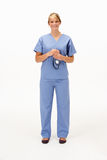 Female medical professional in studio Royalty Free Stock Images