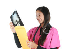 Female medical professional with xray Royalty Free Stock Photos