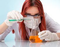 Female medical or scientific researcher Stock Images