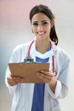 Female Medical Student. Portrait of a happy Female Medical Student Royalty Free Stock Images