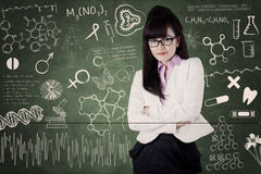 Female medical student at class 1 Royalty Free Stock Photo