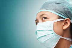 Female medical worker looking away Stock Images