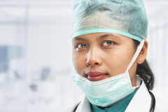 Female medical worker posing Stock Photo
