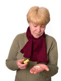 Female with medicaments. (medical supplies Stock Image