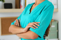Female medicine therapeutist doctor hands Royalty Free Stock Image