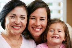 Female Members Of Multi Generation Family At Home Royalty Free Stock Photo