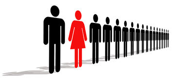 Female With Men Stock Images